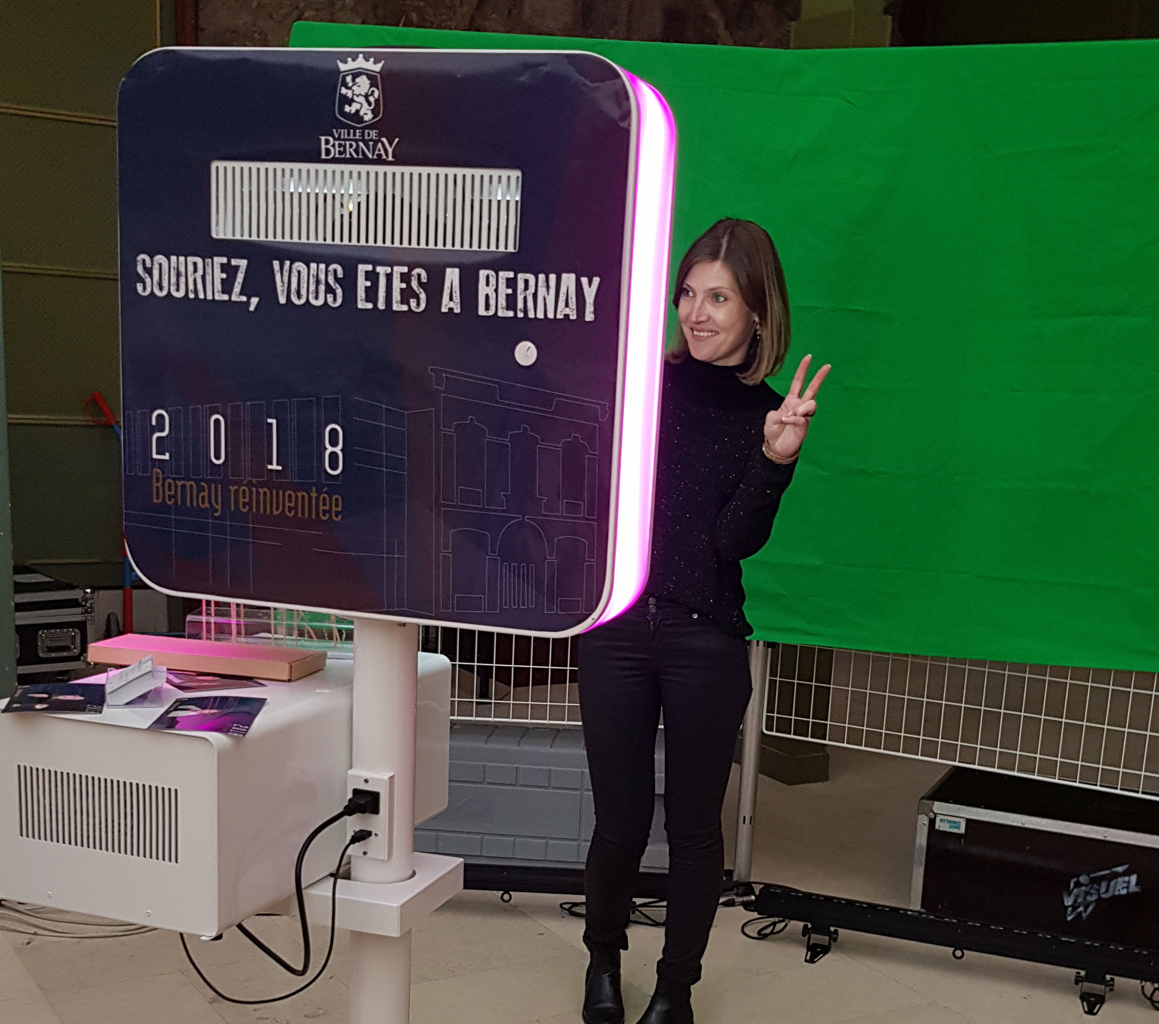 borne à selfie bernay voeux mairie normandie eure