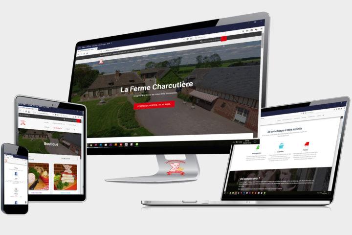 Creation site internet magasin à la ferme La Ferme Charcutiere Eure Normandie Epegard Le Neubourg