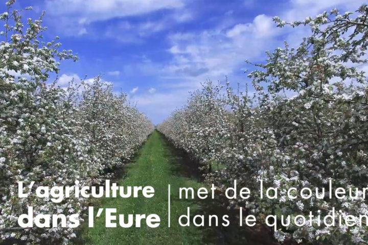 vidéo agriculture departement de l'eure normandie printemps
