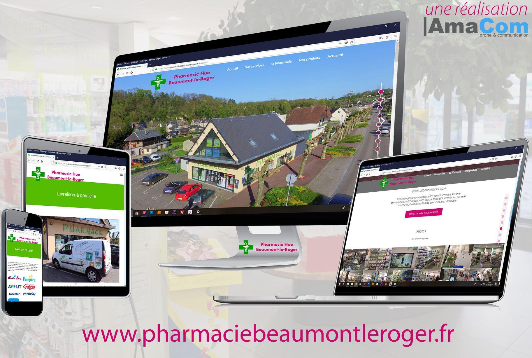 Site internet – Pharmacie Hue Beaumont-le-Roger