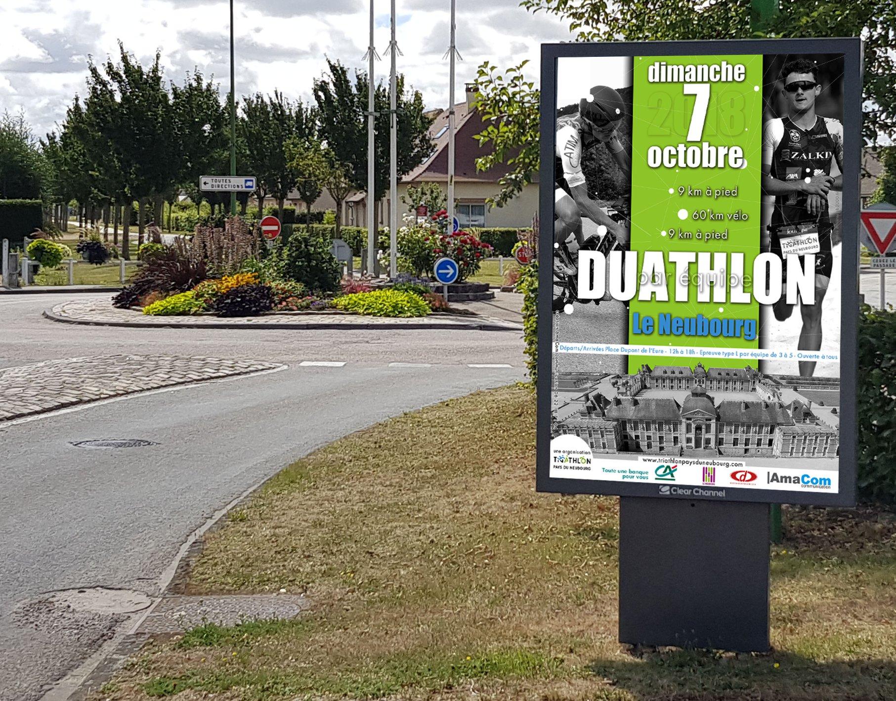 création affiche évènement sport agence de communication le neubourg eure normandie