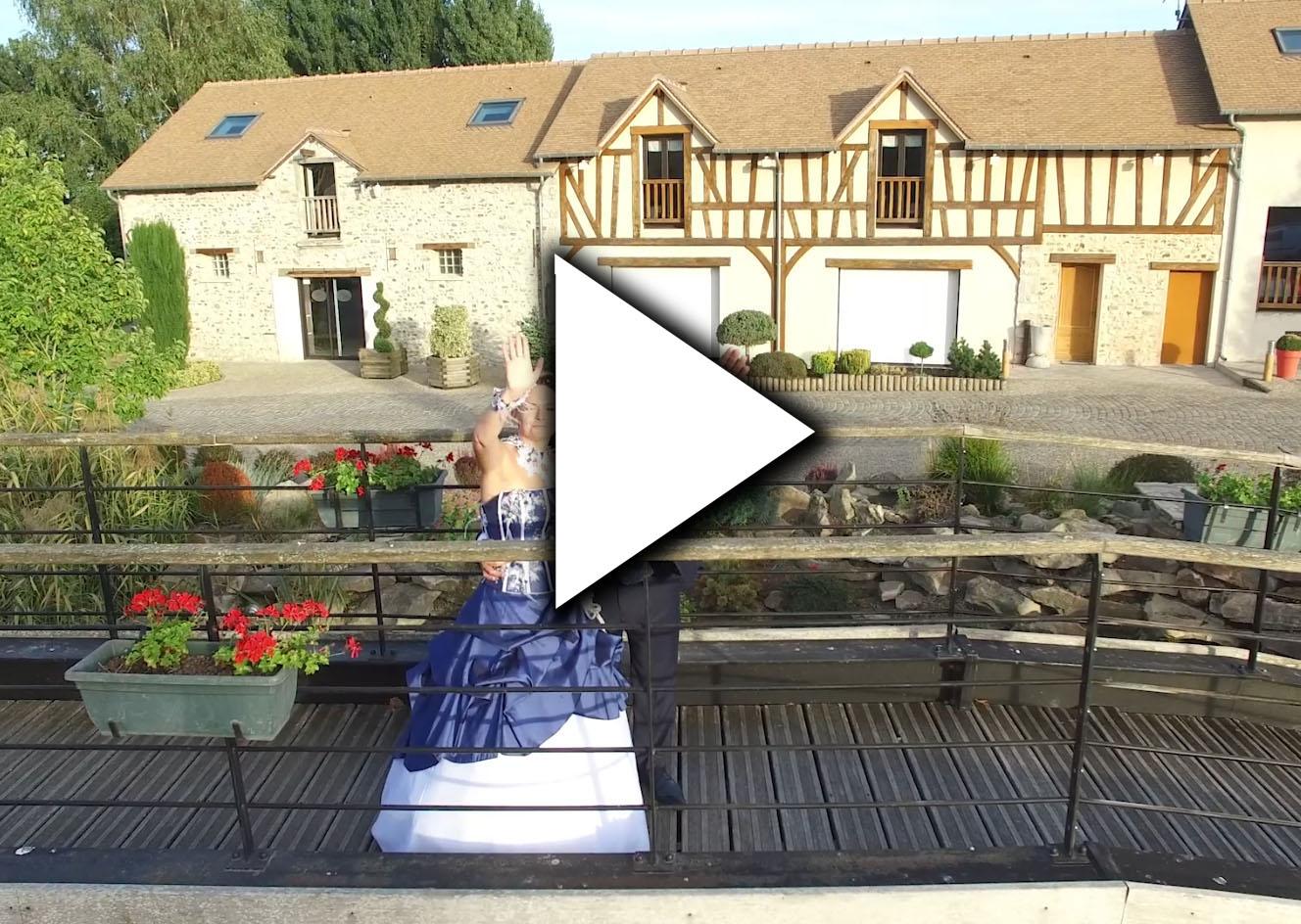 Film de mariage drone video champenard sainte colombe pres vernon menilles pacy