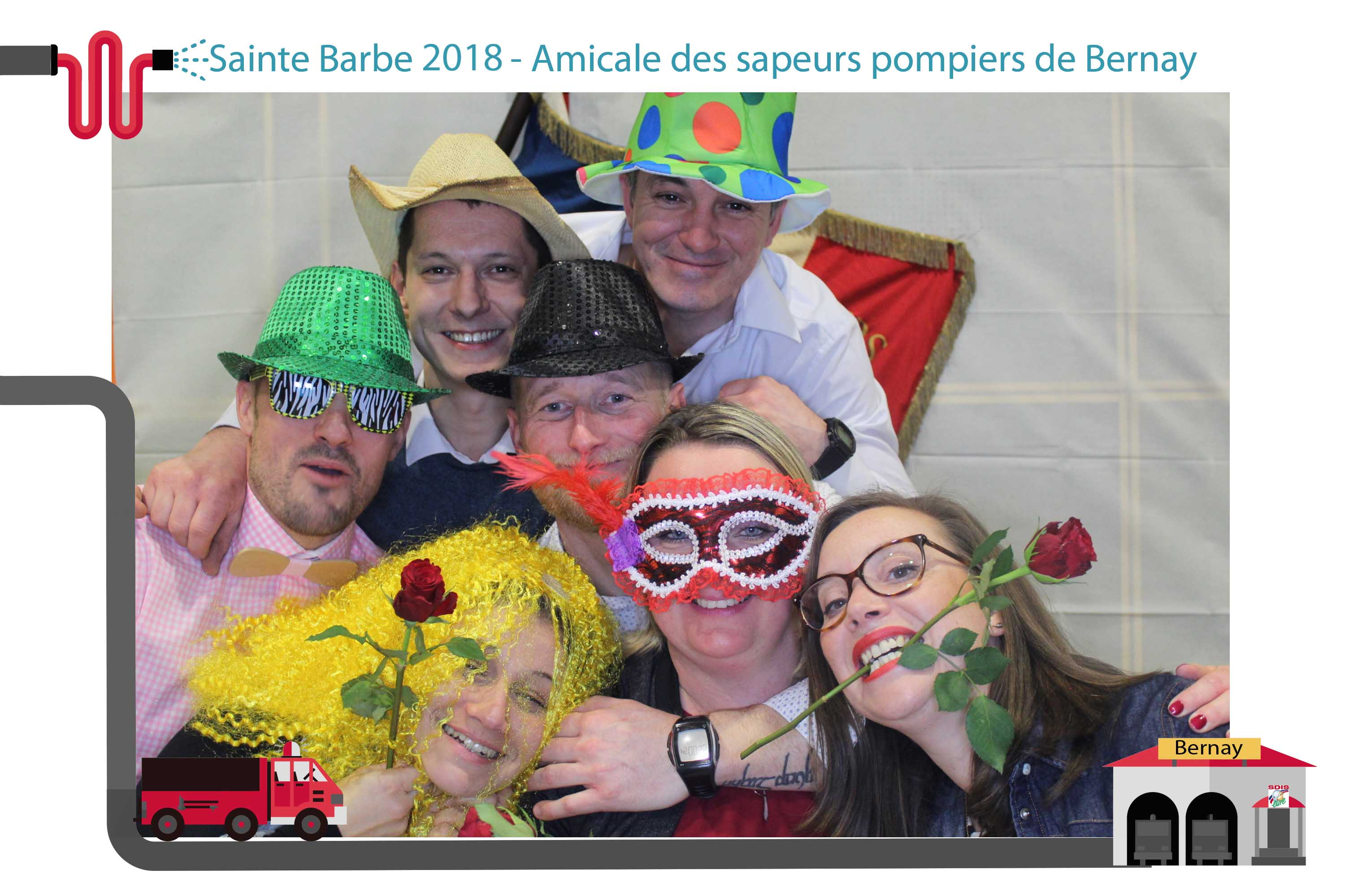 borne photo selfie photobooth bernay pompiers eure normandie