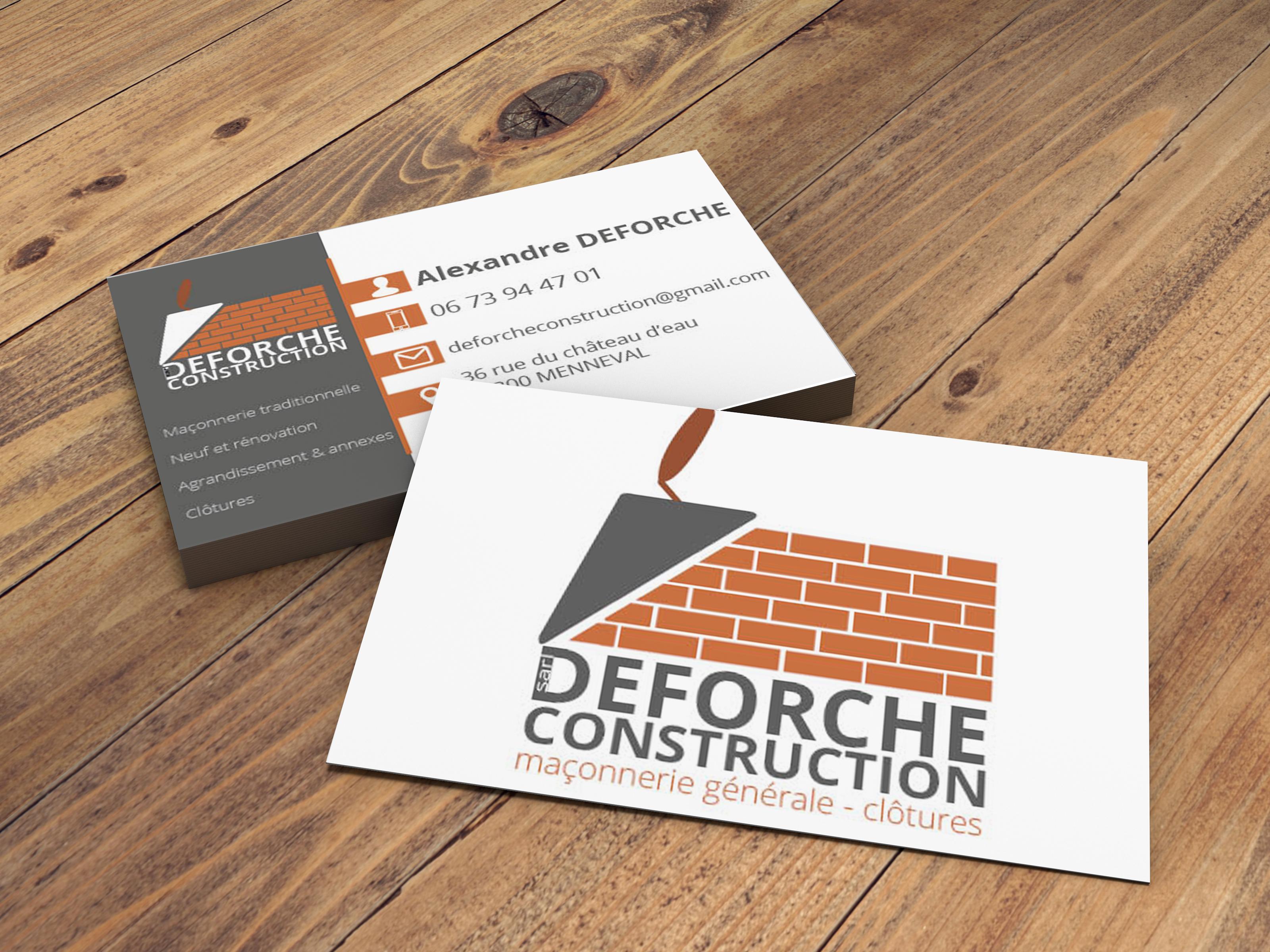 creation logo impression carte de visite maconnerie deforche construction menneval bernay eure le neubourgnormandie