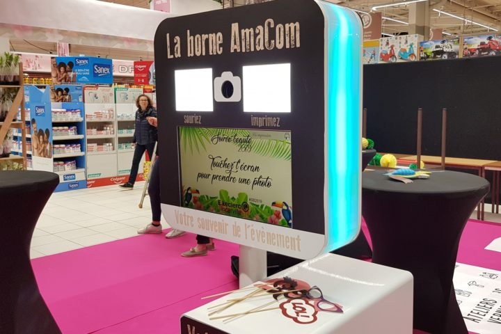 borne selfie magasin location soirée beaute incarville louviers eure Normandie