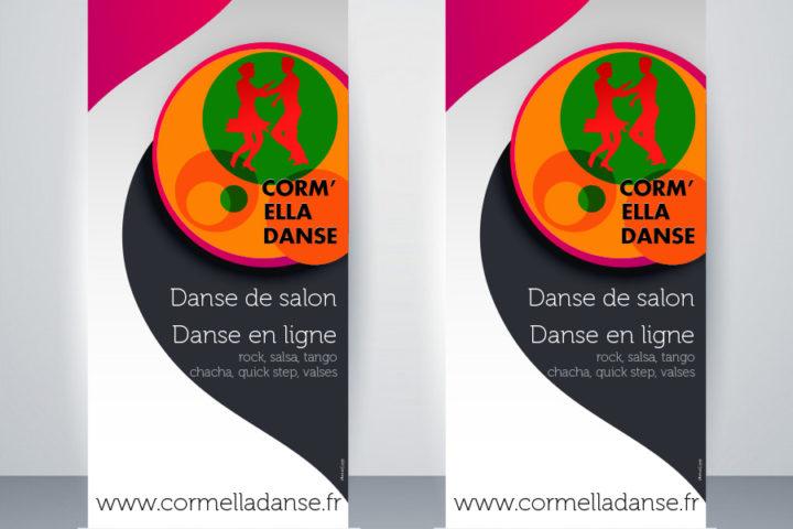realisation impression rollup personnalisé caen calvados normandie association danse cormelles le royal