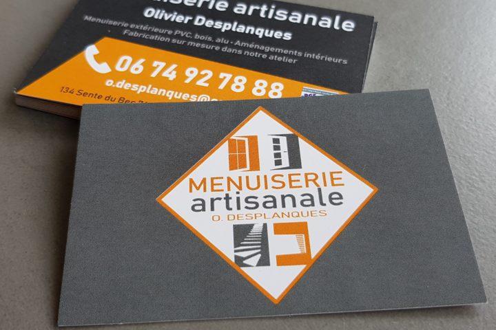 carte de visite menuiserie artisanale olivier desplanques saint pierre les elbeuf seine maritime normandie