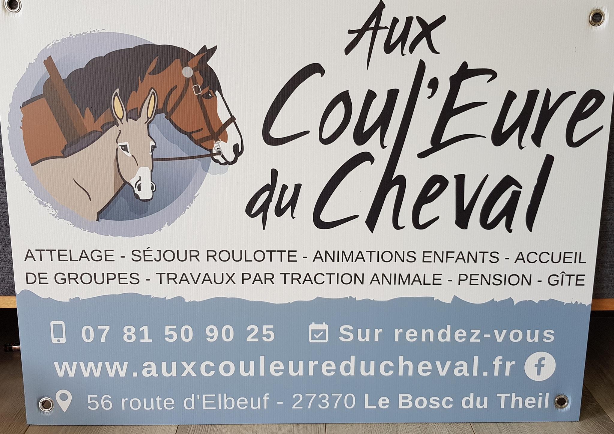 panneau signaletique cheval le gros theil le neubourg bourgtheroulde eure normandie pvc forex akilux