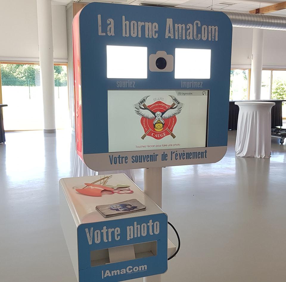 selfiebox photobooth borne à selfie pompiers caugé evreux conches le neubourg eure normandie