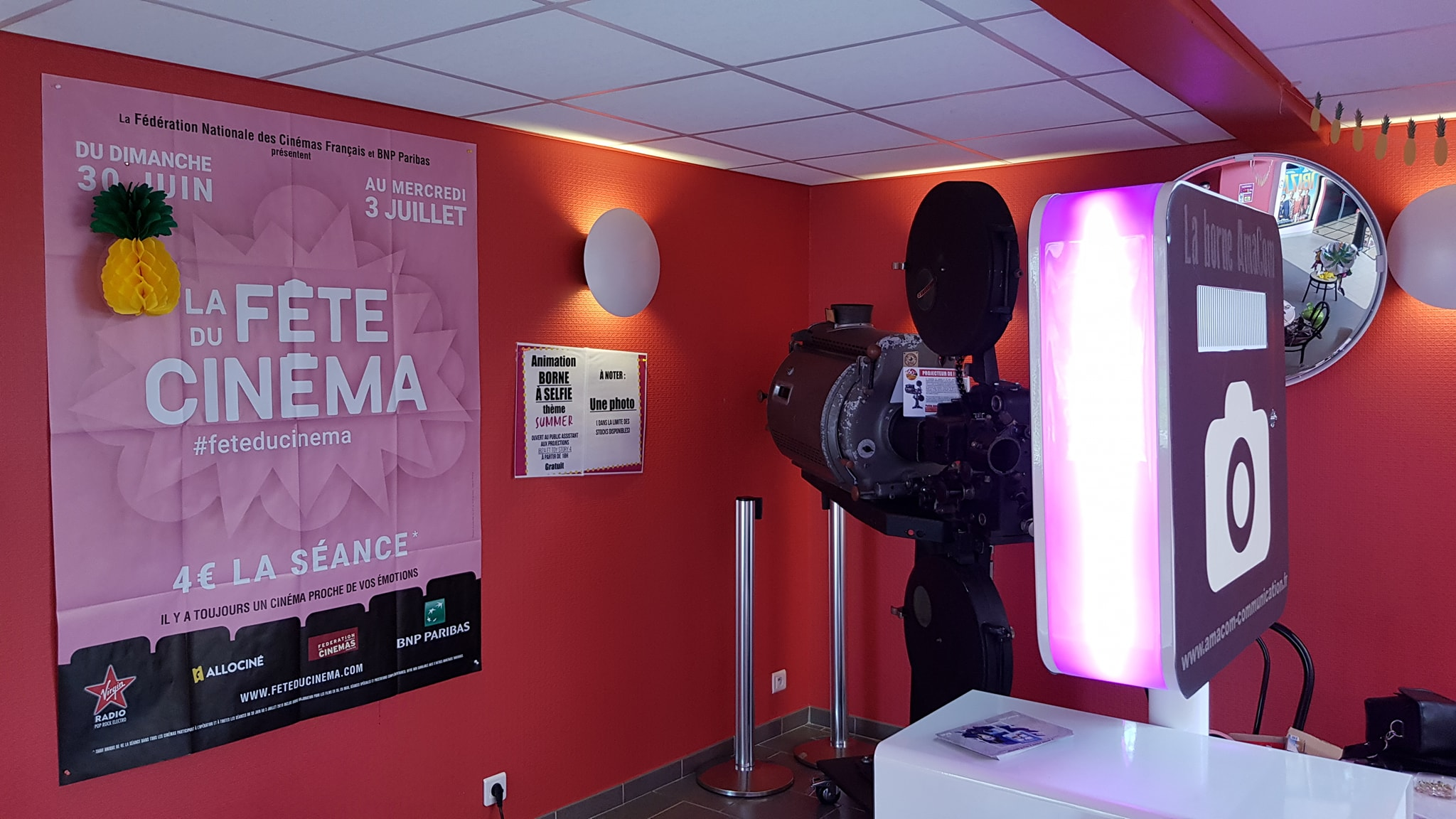 photobooth selfie photo borne le neubourg cinema eure normandie fête mairie collectivité