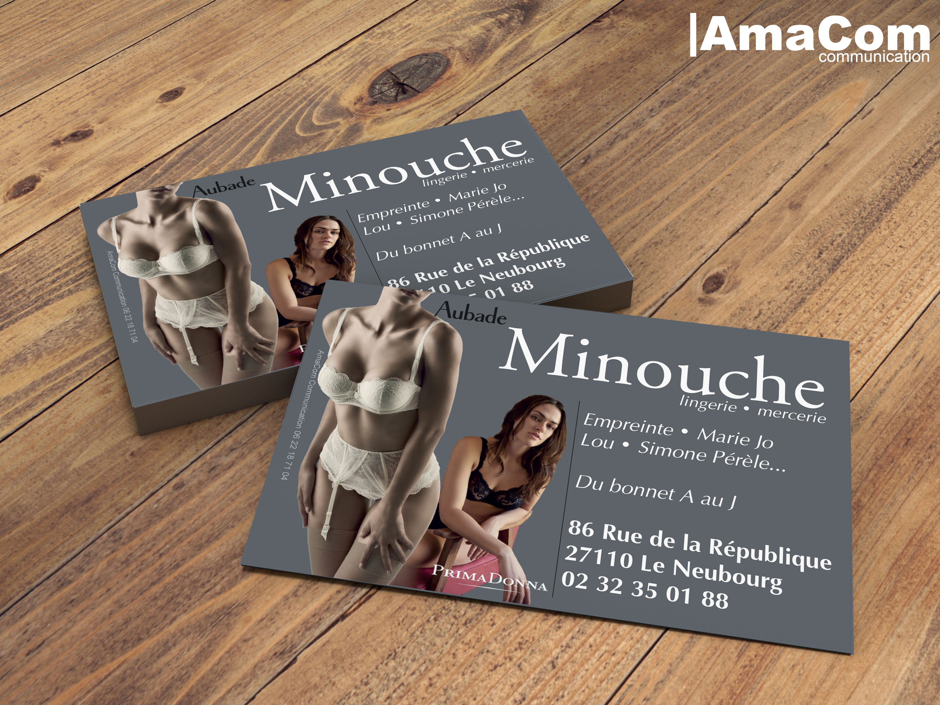 creation impression cartes de visite magasin commercant le neubourg eure normandie evreux