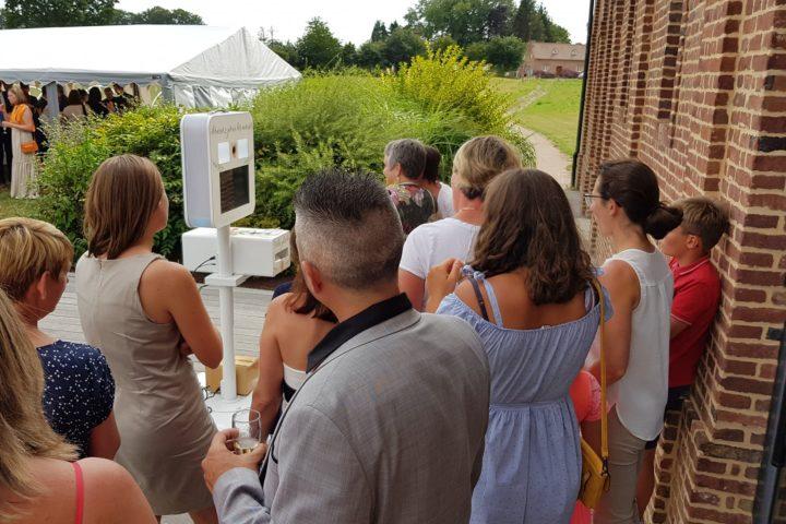 borne selfie photobooth mariage yvetot yerville seine maritime la grande du chateau normandie eure