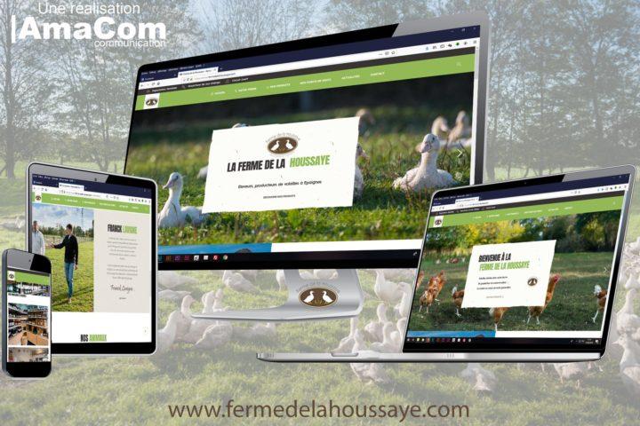 creation site internet ferme de la houssaye epaignes eure normandie