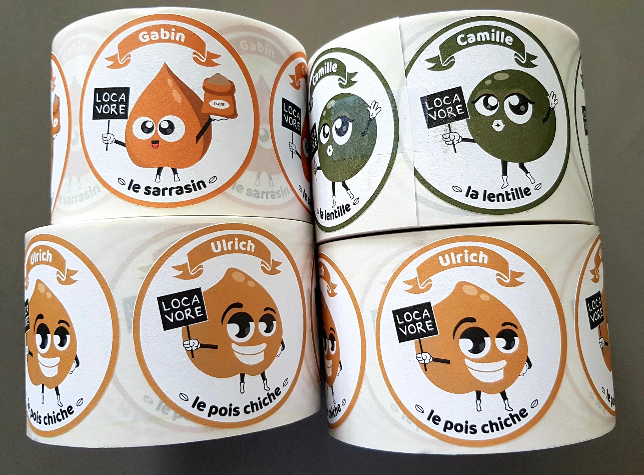 impression étiquettes le neubourg eure normandie ferme producteur local légumineuses