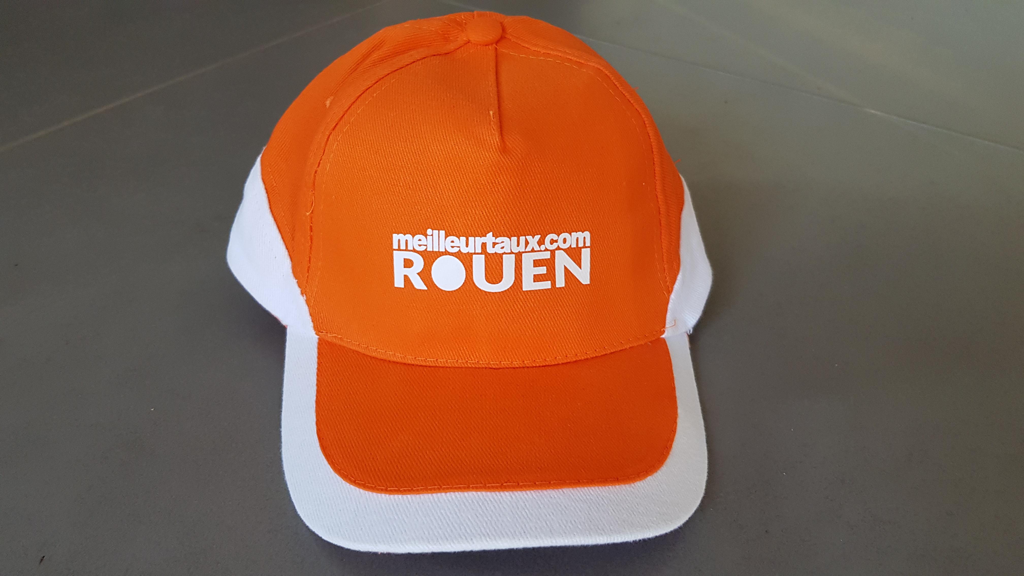 casquette personnalisée courtier meilleurtaux.com rouen agence de communication eure normandie