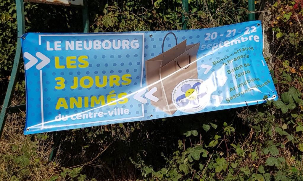 panneaux banderoles le neubourg impression express commercant animation commerciale eure normandie agence de communication impression