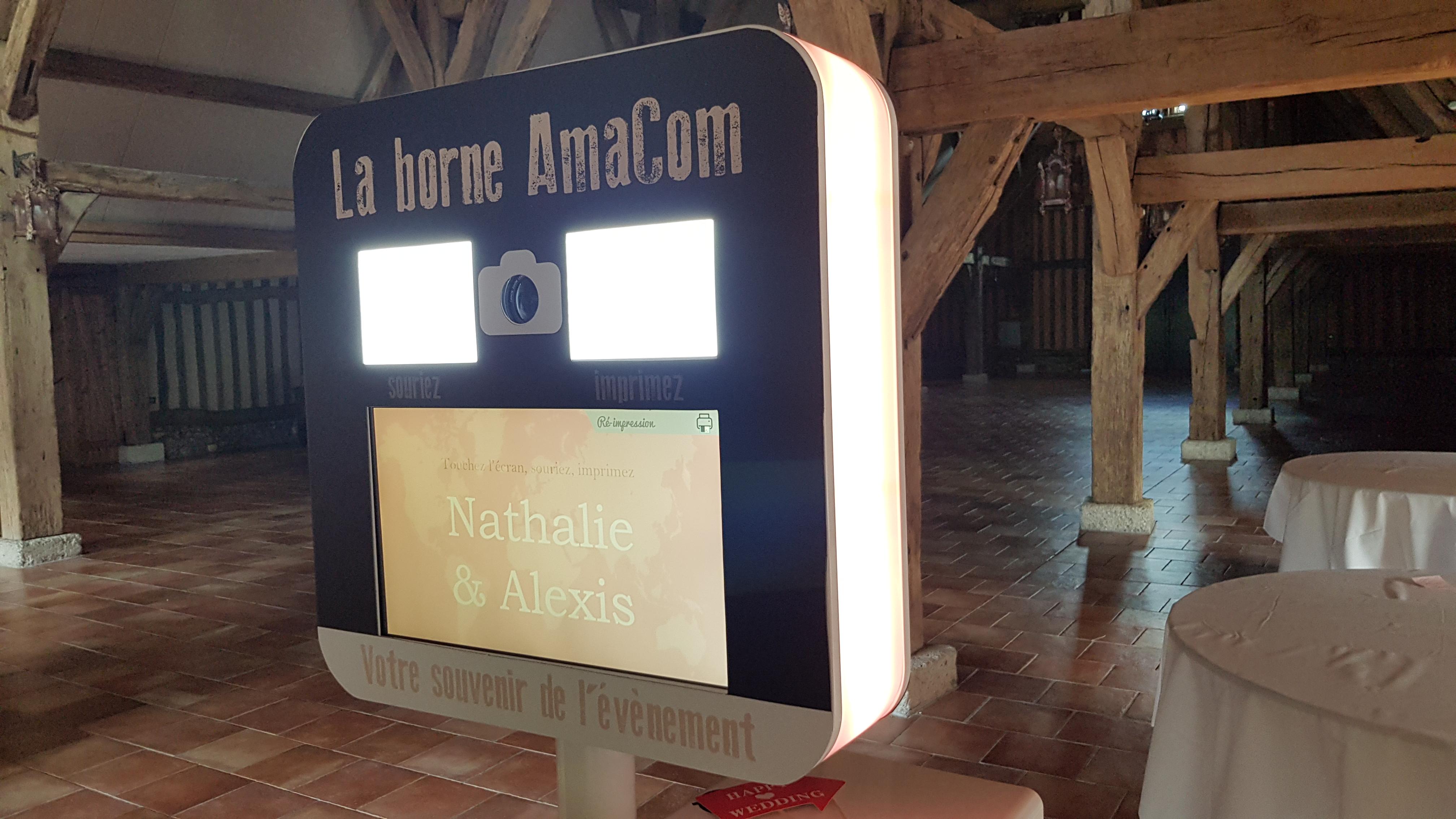 photobooth borne à selfie mariage photobox manoir Henri IV caugé evreux le neubourg