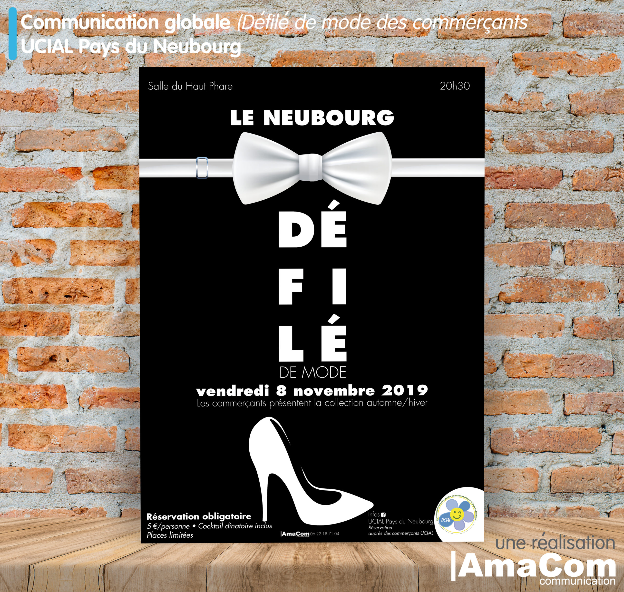 Imprimerie Le Neubourg carton invitation affiche défilé de mode commercants eure normandie