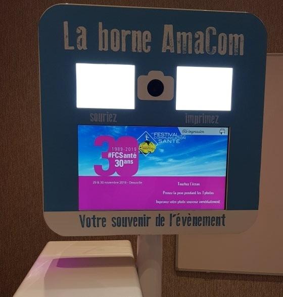 borne selfie photobooth festival communication santé deauville calvados normandie