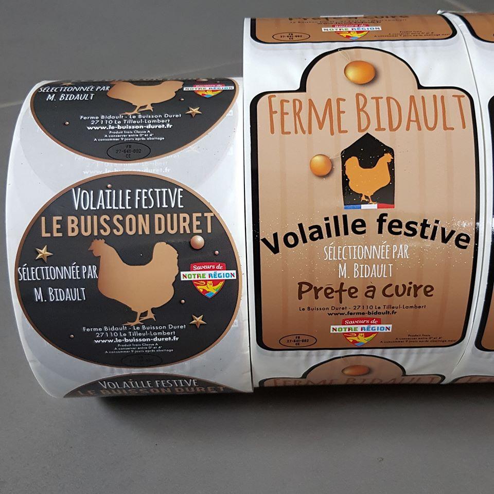 etiquettes adhésives alimentaires volailles le buisson duret le tilleul lambert le neubourg conches evreux