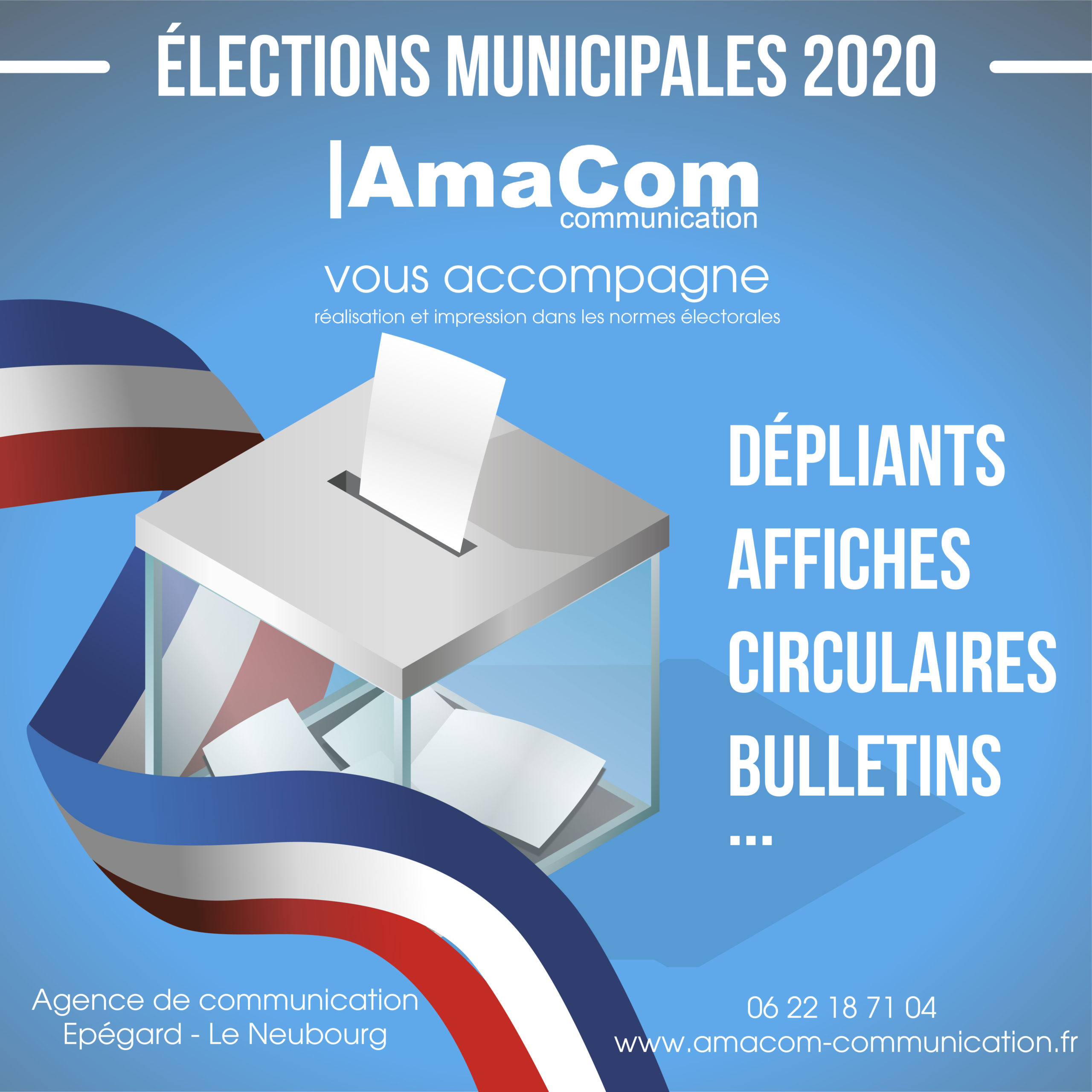 imprimerie agence communication eure normandie election municipale le neubourg