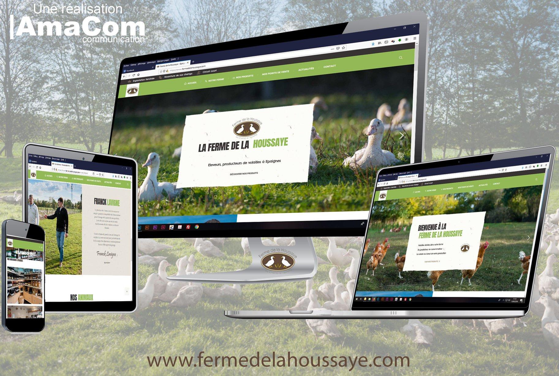 site internet personnalisé boutique en ligne la ferme de la houssaye agriculture epaignes bernay pont-audemer eure normandie