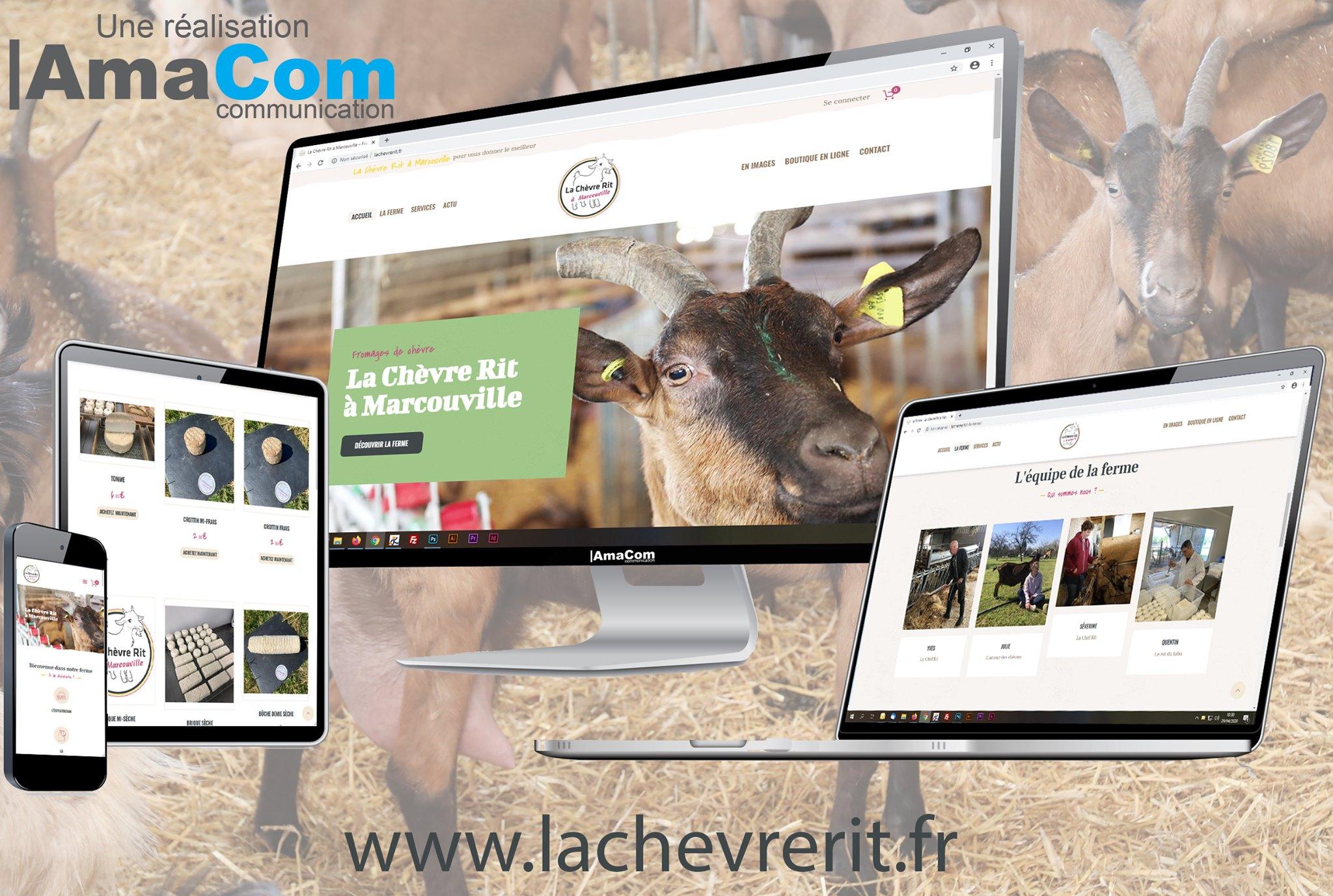 Site internet – La Chèvre Rit à Marcouville