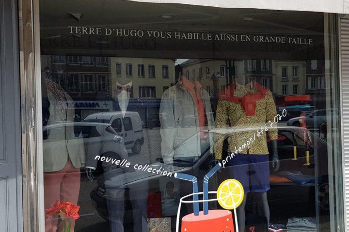 adhesif vitrine terre hugo le neubourg evreux eure normandie
