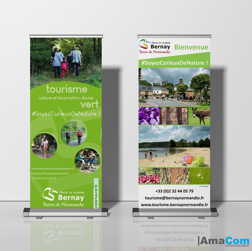 impression roll up bernay eure normandie le neubourg office tourisme