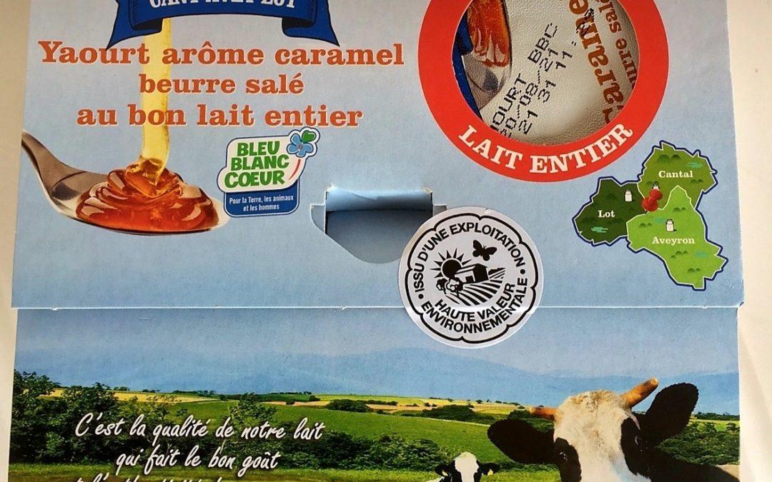 etiquettes adhesives produits laitiers HVE cantaveylot cantal aveyron lot